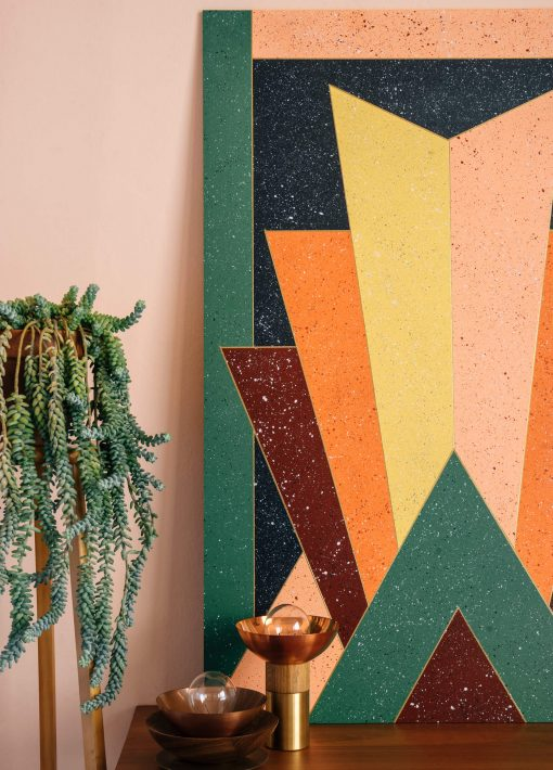 Zaida Sabatés — Mural imitación terrazo