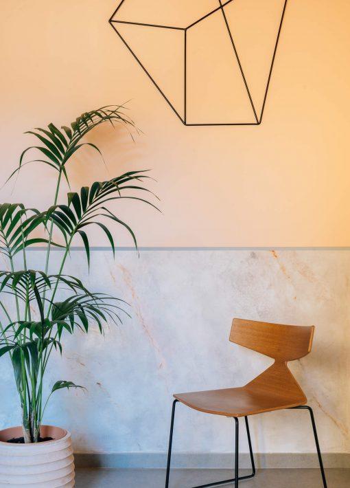 Zaida Sabatés — Vivienda particular, Barcelona, Arrimadero de imitación de mármol