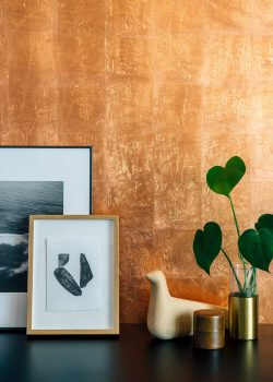 Zaida Sabatés — Private residence, Barcelona, Copper leaf gilded wall